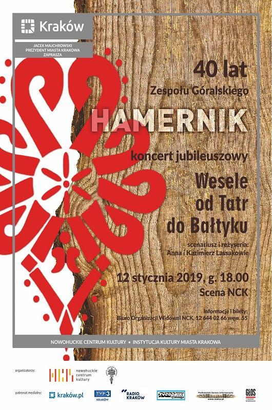 """40 lat Zespołu Góralskiego """"Hamernik"""" – koncert jubileuszowy"""