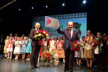 Benefis Wiesława Dąbrowskiego, wieloletniego choreografa Kurpii Zielonych