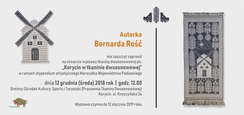 Korycin w tkaninie dwuosnowowej - Bernarda Rość