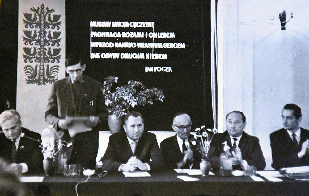 Wystąpienie Bronisława Pietraka na pierwszym Zjeździe STL, fot. Archiwum STL
