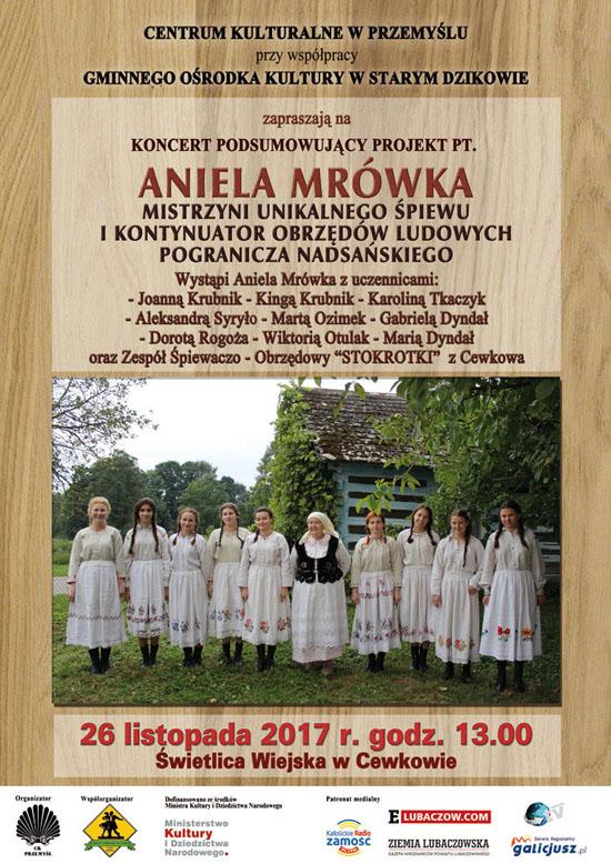 """Aniela Mrówka – mistrzyni unikalnego śpiewu i kontynuator obrzędów ludowych """"Pogranicza Nadsańskiego"""""""