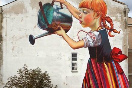 """Słynny białostocki mural """"Dziewczynka z konewką"""" będzie chroniony"""