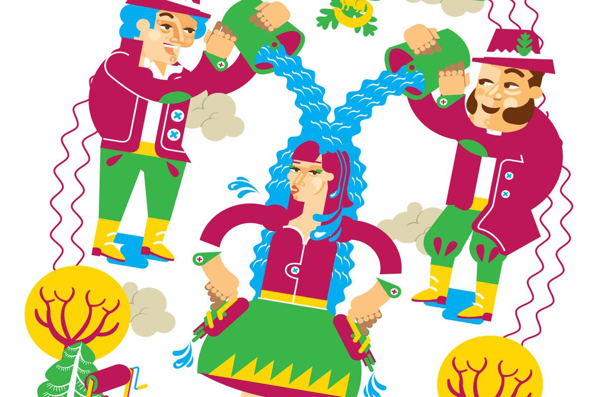 Etnoilustracje – ludowe zwyczaje na kolorowych grafikach