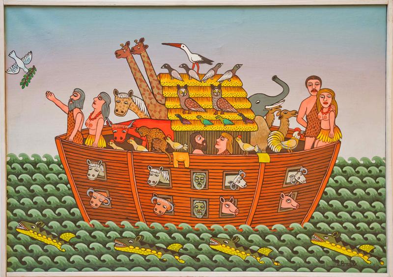 Arka Noego, wyk. Eugeniusz Brożek, fot. Muzeum Wsi Kieleckiej