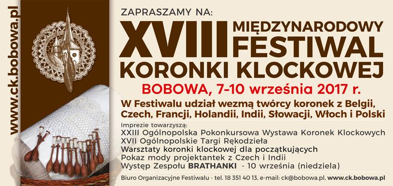 XVIII Międzynarodowy Festiwal Koronki Klockowej 2017