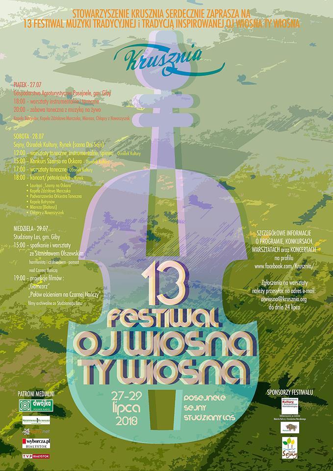 Festiwal Oj Wiosna Ty Wiosna 2018