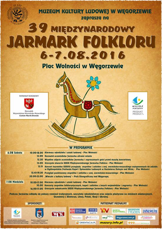 39. Międzynarodowy Jarmark Folkloru - plakat