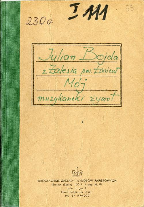 """""""Muzykancki pamiętnik"""" Jana Bojdy z Zalesia, fot. www.msf.muzeumetnograficzne.rzeszow.pl"""