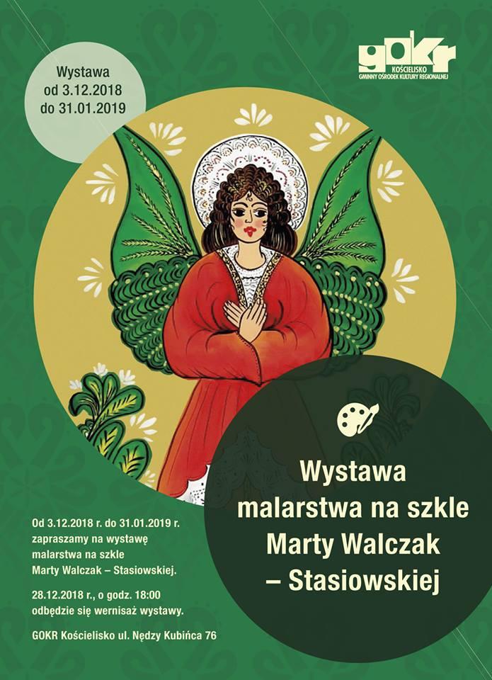 Wystawa malarstwa na szkle Marty Walczak Stasiowskiej