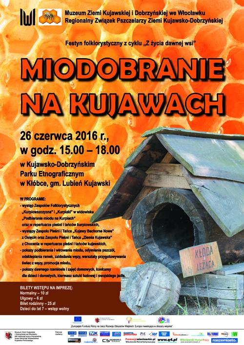 Miodobranie na Kujawach - plakat