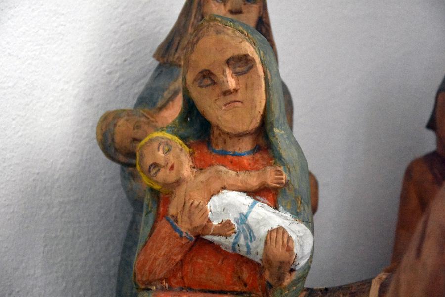 """Rzeźba """"Wojtka"""" Wojciecha Oleksego, fragment ekspozycji, fot. Krzysztof Butryn"""