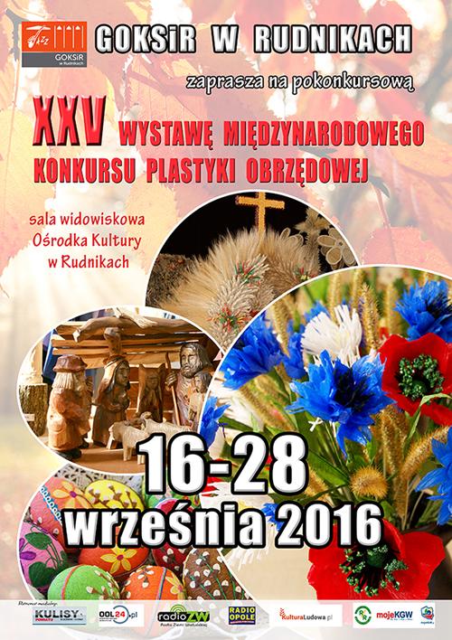 XXV Konkurs Plastyki XXV Wystawa Plastyki Obrzędowej w Rudnikach