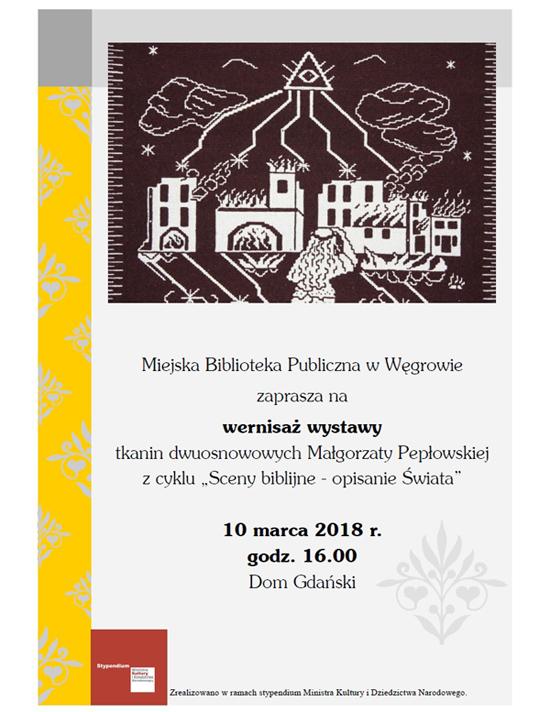 Wernisaż wystawy tkanin dwuosnowowych Małgorzaty Pepłowskiej