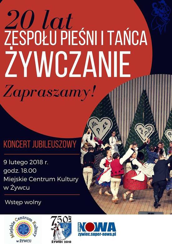 """Koncert jubileuszowy z okazji 20-lecia ZPiT """"Żywczanie"""""""