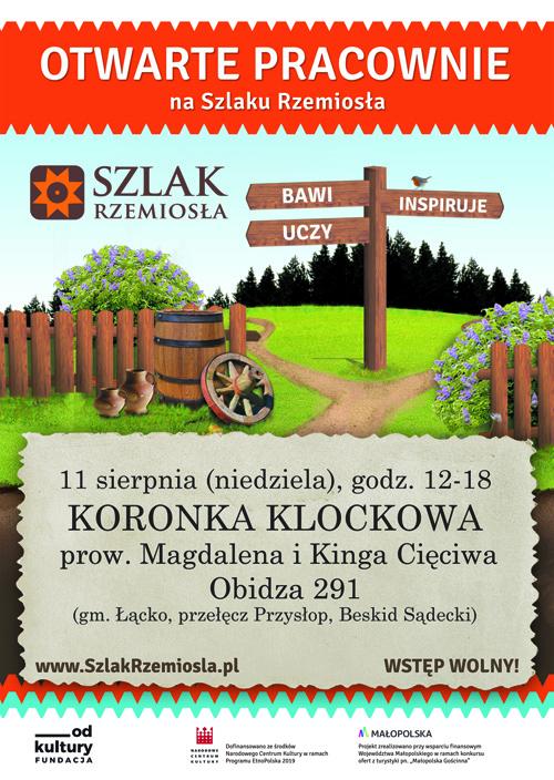 Niedziela z koronką klockową na Szlaku Rzemiosła Małopolski