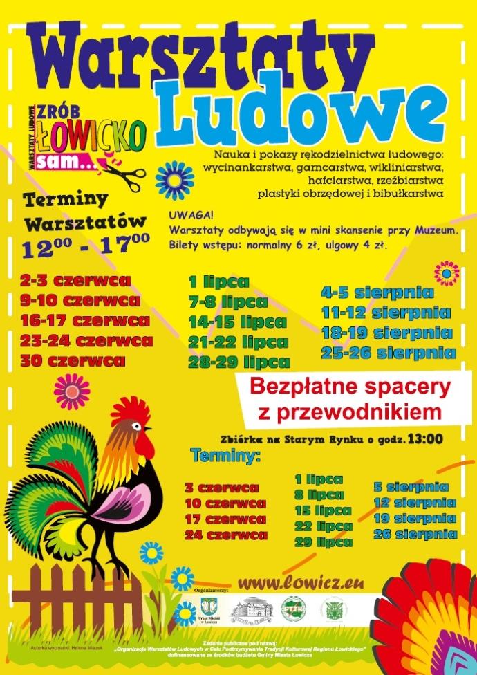 Warsztaty ludowe w Łowiczu
