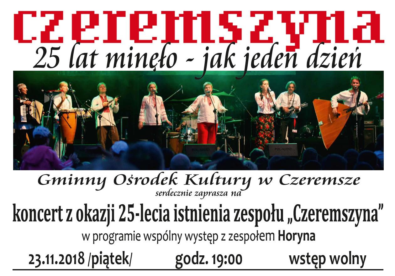 Jubileusz 25-lecia Czeremszyny