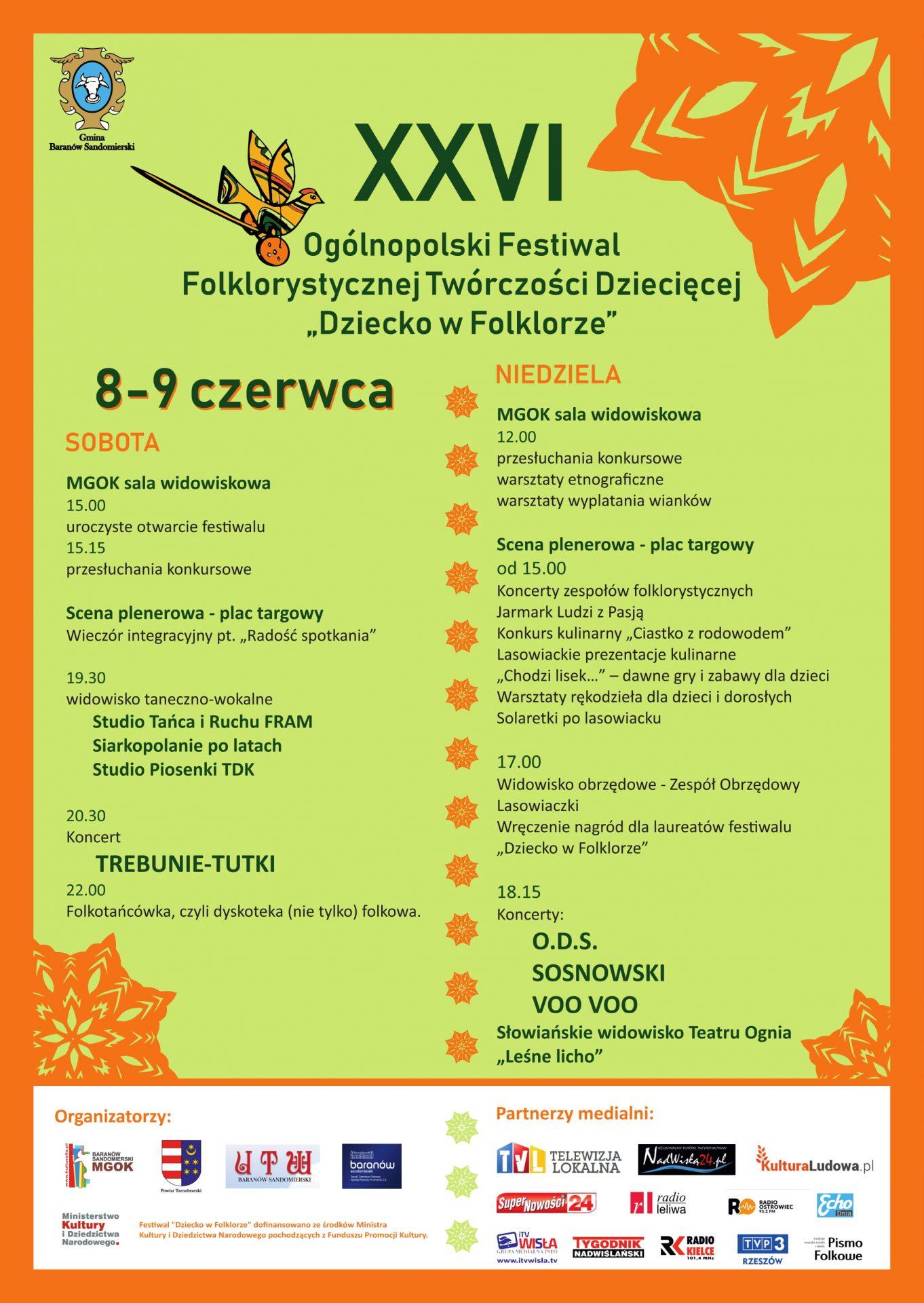 """Festiwal Folklorystycznej Twórczości Dziecięcej """"Dziecko w Folklorze"""" 2019"""
