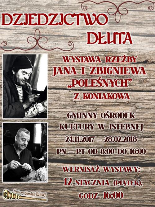 """Wernisaż wystawy rzeźby Jana i Zbigniewa """"Poleśnych"""" z Koniakowa"""