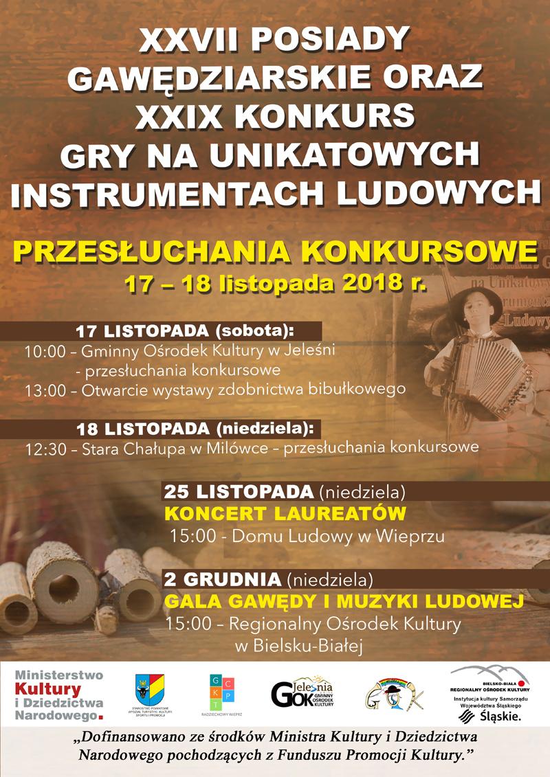 XXVII Posiady Gawędziarskie oraz XXIX Konkurs Gry na Unikatowych Instrumentach Ludowych