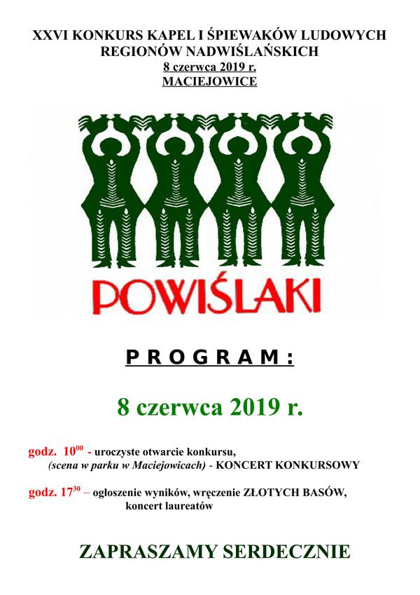 """XXVI Konkurs Kapel i Śpiewaków Regionów Nadwiślańskich """"Powiślaki"""""""
