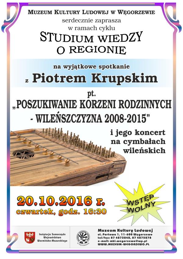Piotr Krupski – spotkanie i koncert na cymbałach wileńskich