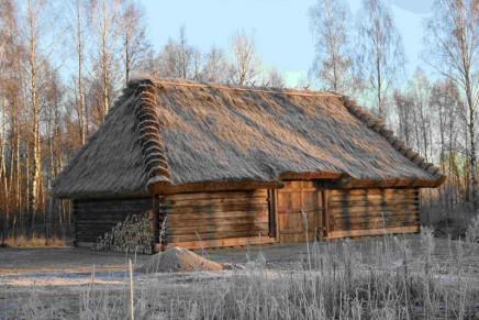 Zabytkowe stodoły wzbogaciły krajobraz Podlaskiego Muzeum Kultury Ludowej